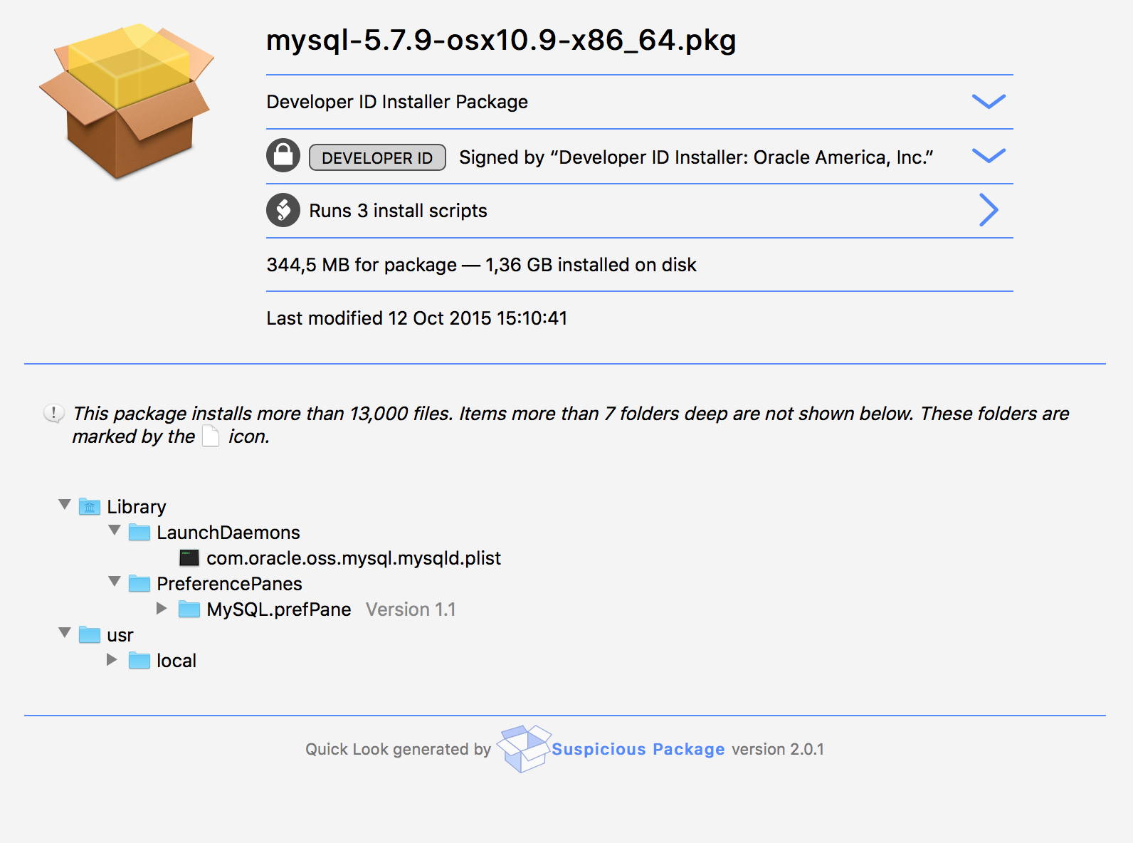 Yes 1.32GB once installed (and wrong OSX version naming)